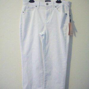 NYDJ LIft X Tuck Carpri Pant White Size 4 NEW